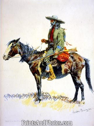 A Trapper on Horse Color  4523