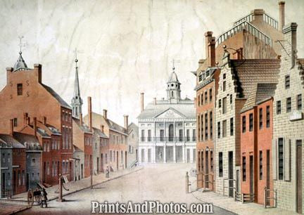 New York City Federal Hall 1797 Print 4524