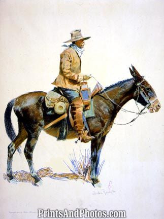 An Army Packer on Horse  4534