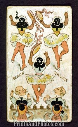 Black Ballet Playing Cards Print  4550