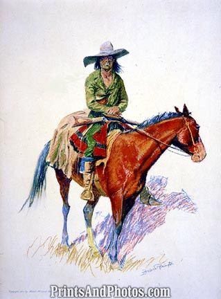 Old Ramon Horseback Color Drawing  4667