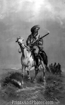 Buffalo Bill on Horseback  4705