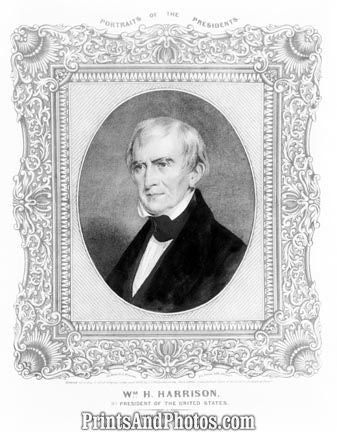 William H Harrison 9th President  4720