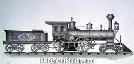 Railroad Engine Early Train  4724