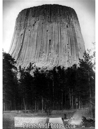 Devils Tower Bear Lodge 1890  4809