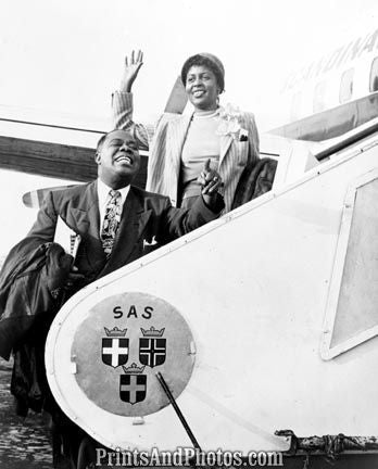 Jazz Louis Armstrong & Wife  4878