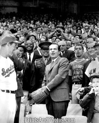 President Richard Nixon 1st Pitch  4939