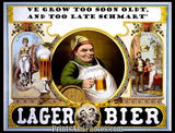 Lager Bier To Soon Oldt Ad 5052