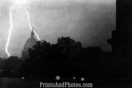 Lightning over Capitol 1931  5109