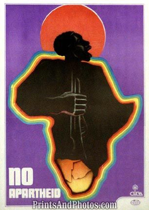 AFRICA No Apartheid  Print 5111