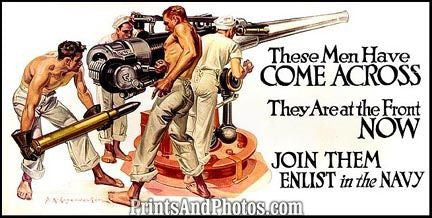 World War I  Print NAVY Enlist 5159