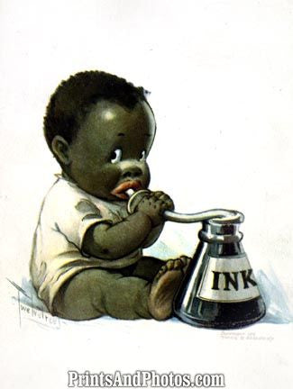 African American Child Caricature PRINT 5227