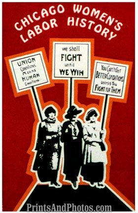Chicago Womens Labor History Print  5234