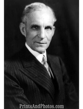 Industrialist Henry Ford Portrait  5295