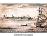 Fort George New York City Early Print 5338