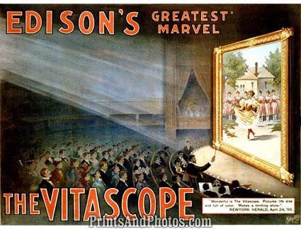 Thomas Edison & Vitascope  5458