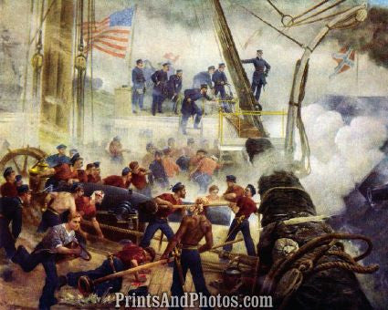 Civil War Farragut Hartford Print 5466