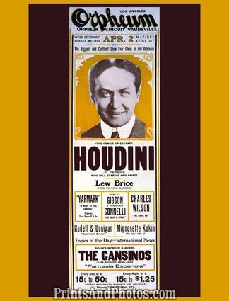 Escapist Harry Houdini  5534