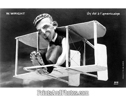 Wilbur Wright Caricature  5598