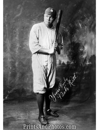 Babe Ruth Signature Portrait 5969