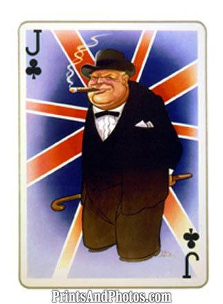 Britains Winston Churchill  Print 5997