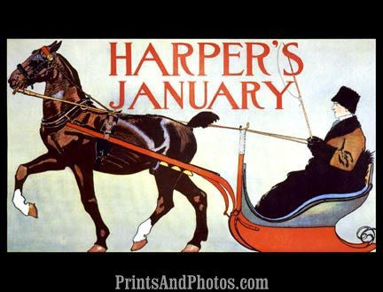 Harper's January  Print 6081