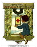 Red Cross Service Flag Print 6088