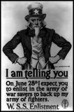 Uncle Sam Enlist WWI  6098