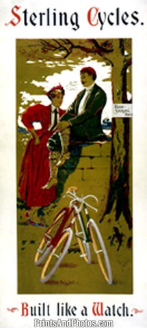 Sterling Cycles Ad Print 6235