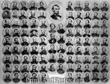 Civil War Union Officers Print 6302