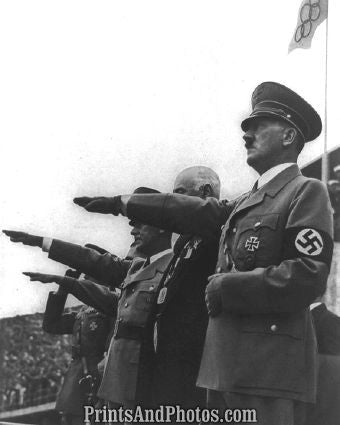 1936 Olympic Hitler Saluting  6337 - Prints and Photos