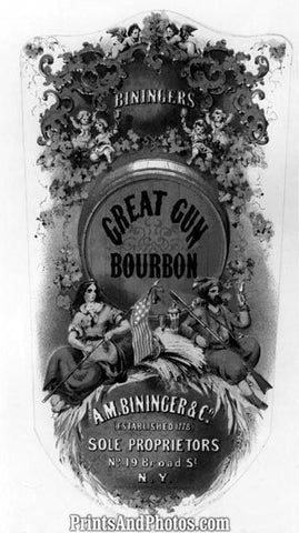 Bininger's Great Gun Bourbon Ad 6359
