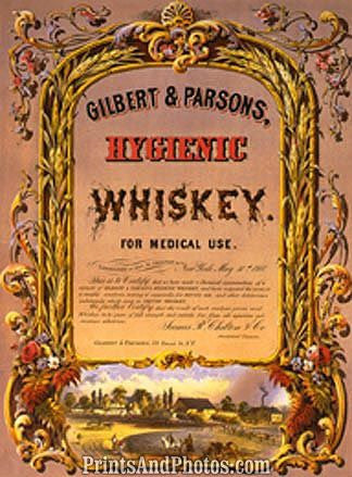 Medical Use Whiskey Label Print 6403
