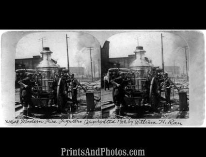 Firefighters 1902 Stereograph 6432