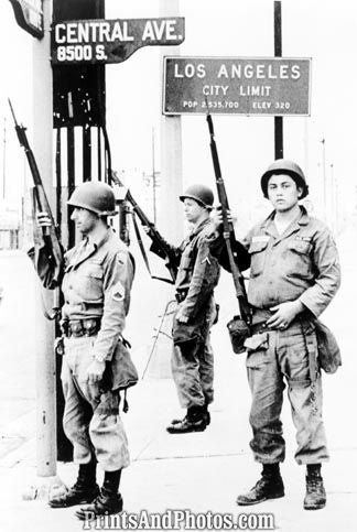 National Guardsmen 60s LA Riot 6489