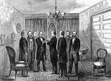 Andrew Johnson Takes Oath  6660