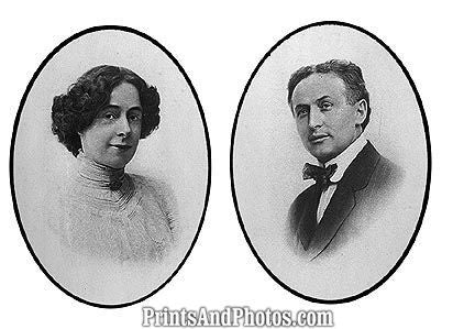 Harry Houdini & Wife Cameo  6665
