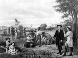 George Washington Farmer Print 6730