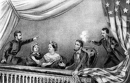 Lincoln Assassination Print 6760