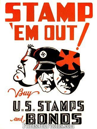 WWII War  Stamp em Out 6765