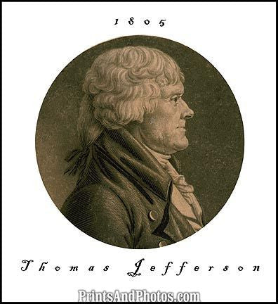 Thomas Jefferson 1805 Print 6774