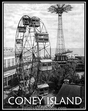 Coney Island New York Print 6779