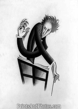 Russian Conducter Caricature Print 6826