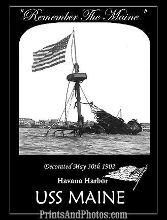 Remember The Maine Memorial Print 6832
