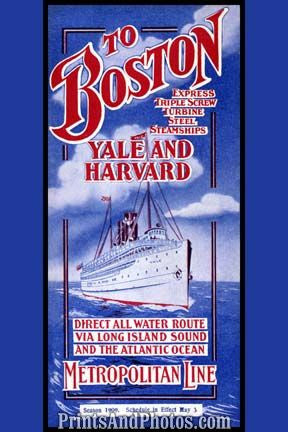 Boston Oceanliner Yale Harvard  6911