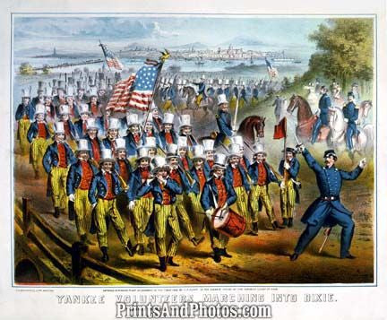 Civil War Yankee Vols March To Dixie 6922