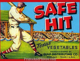 Safehit Texas Vegetable Ad Print 6950