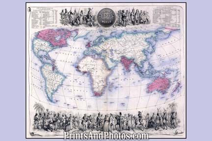 British Empire 1898 Panoramic Map 6957