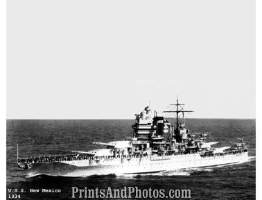 Battleship New Mexico 1934  7021