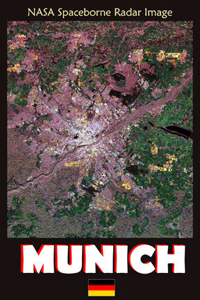 Munich German NASA Radar Map 7082